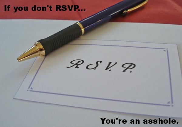Why Should I RSVP?