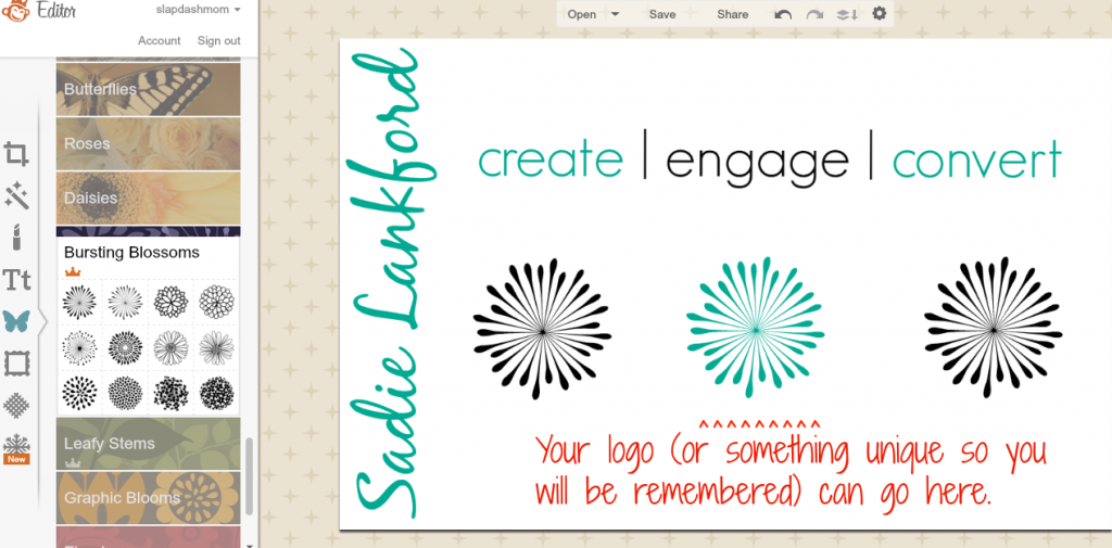 How to Make Business Cards Using PicMonkey - Slap Dash Mom