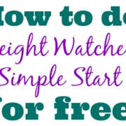 Weight Watchers Simple Start