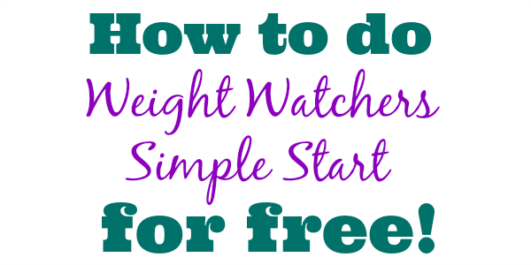 Weight Watchers Simple Start