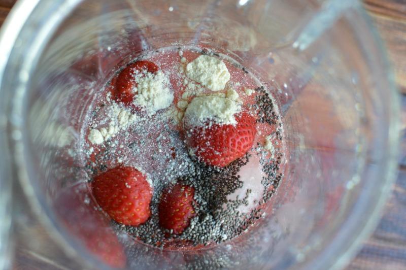 Strawberry Chia Seed Smoothie