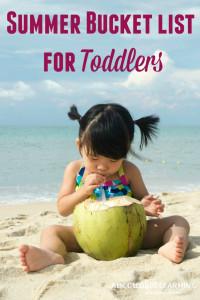 summer bucket list toddlers