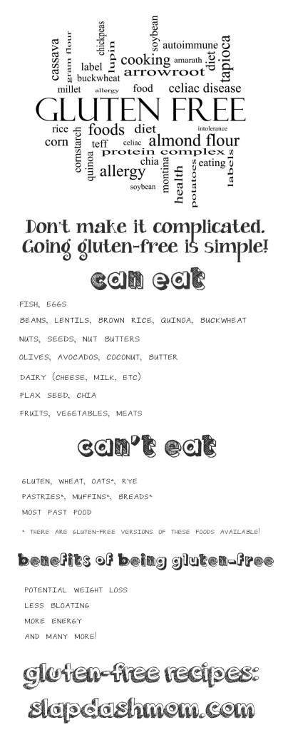What You Can and Can't Eat Gluten Free
