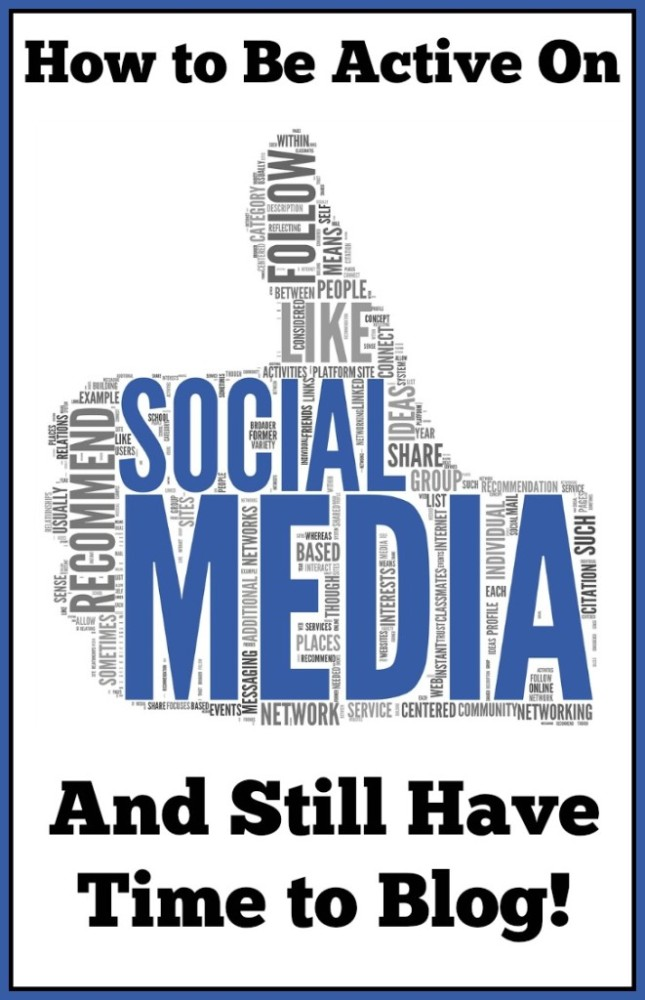How to Be Active on Social Media and Still Have Time to Blog