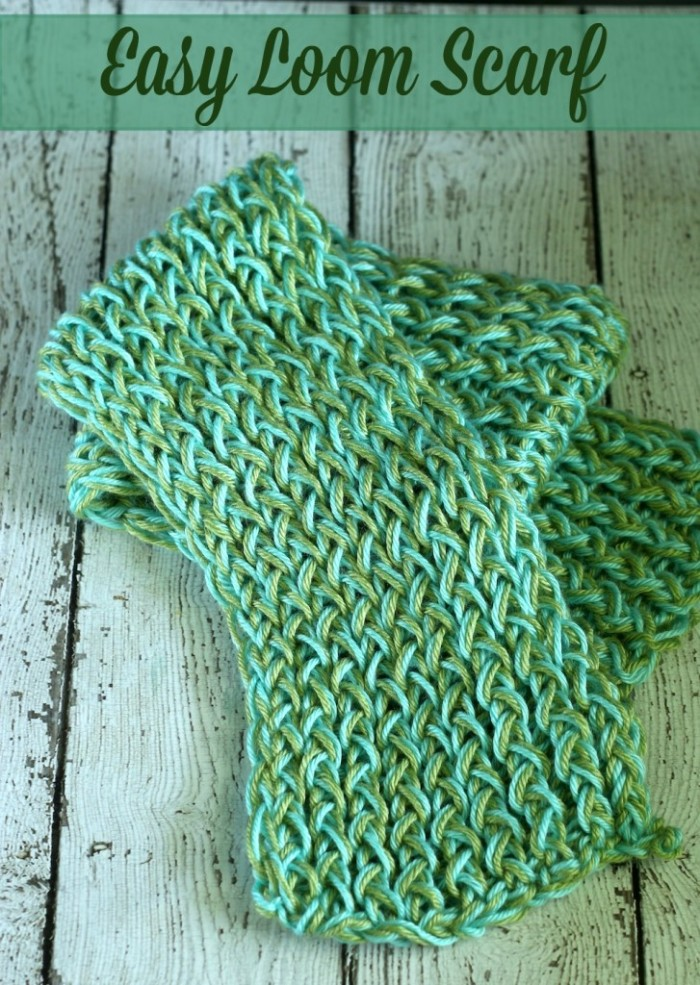 Loom Knitting Scarf Patterns For Beginners : Image gallery loom scarf