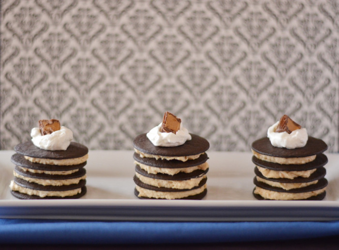 No Bake Chocolate Peanut Butter Icebox Cakes