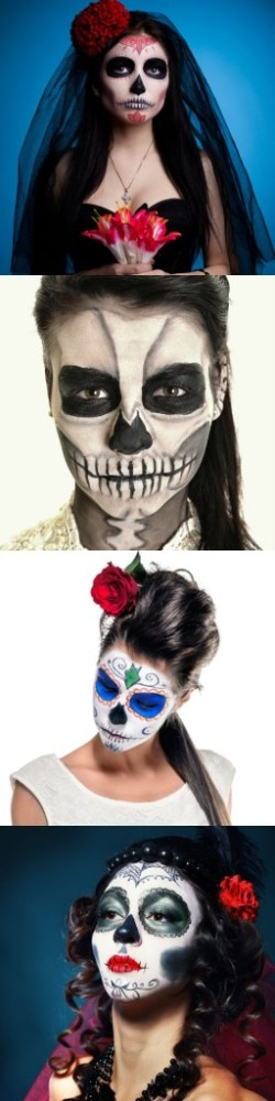 easy Sugar Skull Makeup Ideas
