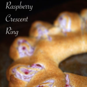 Raspberry Crescent Ring with Cream Cheese Frosting
