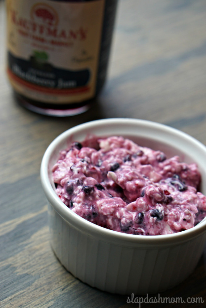 Blackberry cream cheese... Great to spread on bagels!