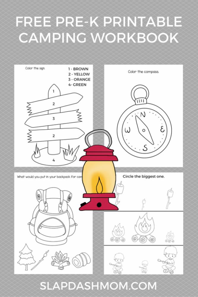 Free Preschool Camping Printables