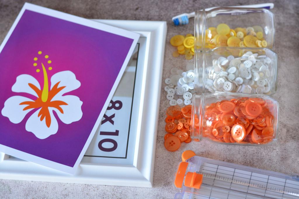DIY Button Art Flower – Gift for Mom