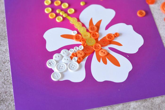 Hibiscus Button Art Tutorial