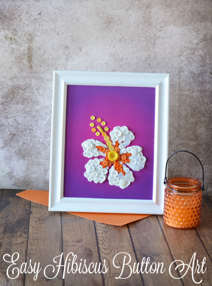 Easy DIY Button Art Flower Frame