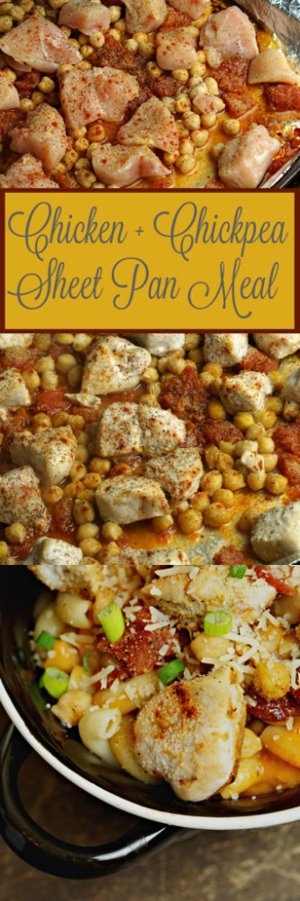 Chicken and Pasta Sheet Pan Meal