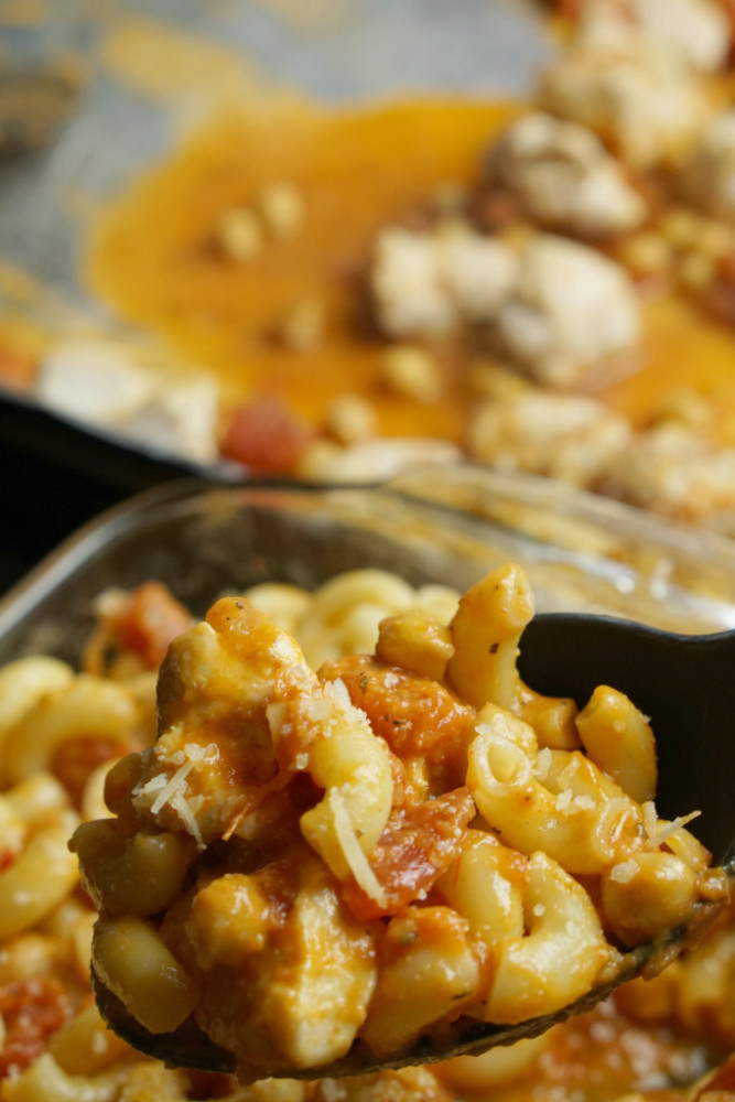 chicken chickpea sheet pan meal