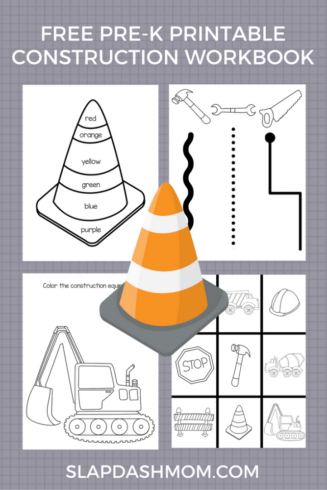 Free Printable Preschool Construction Workbook