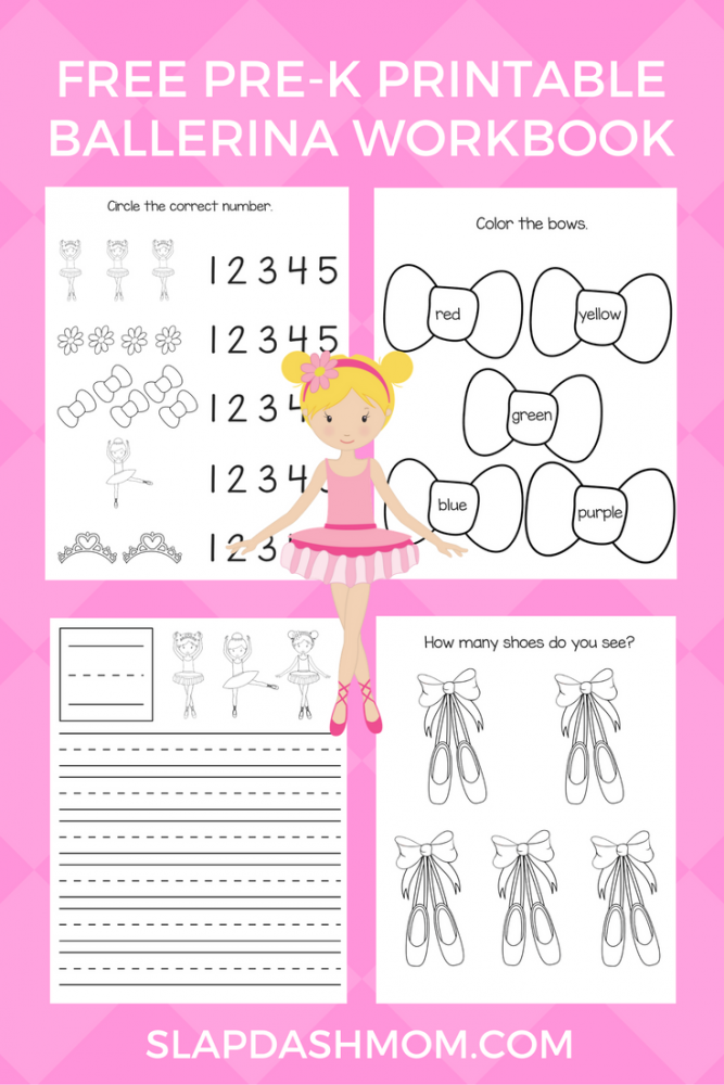 Free Printable Preschool Ballerina Workbook