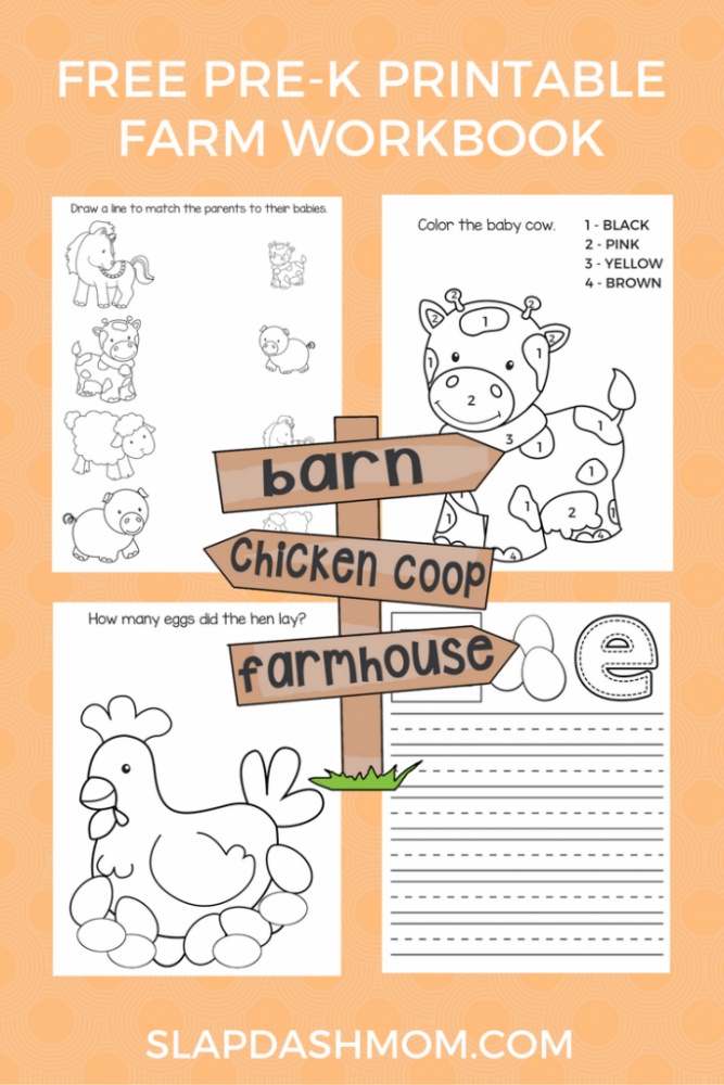 Free Preschool Farm Animal Printables Slap Dash Mom