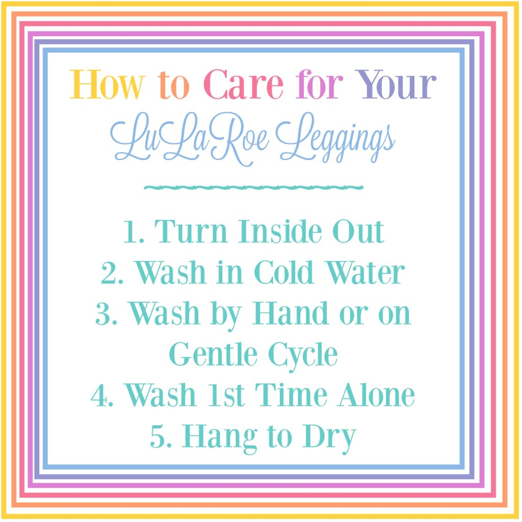 How to Care for Your LuLaRoe Leggings
