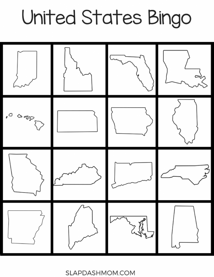 United States Bingo Printables