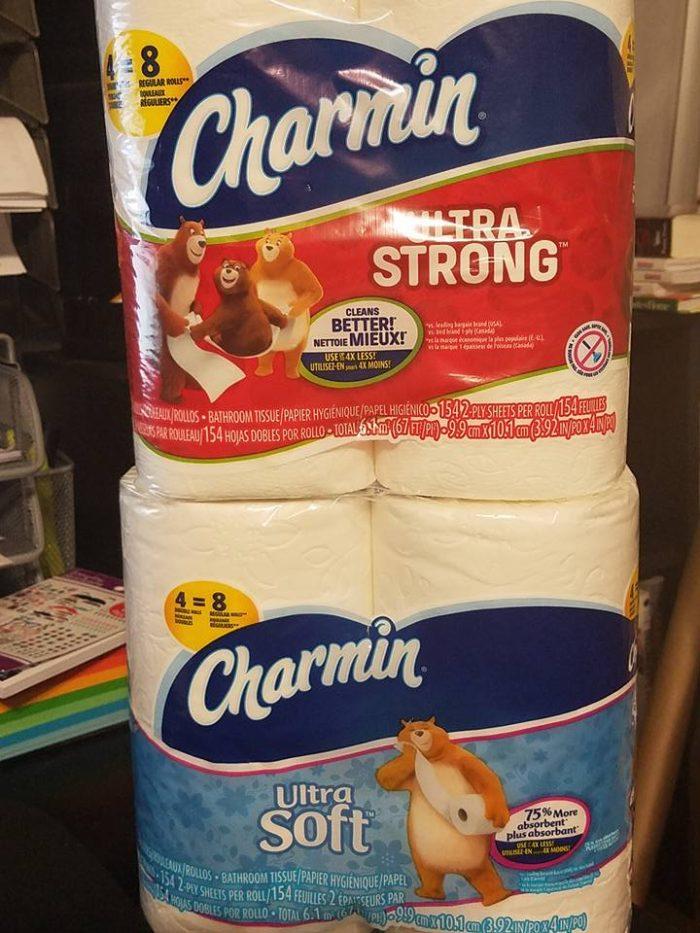 charmin ultra soft vs ultra strong