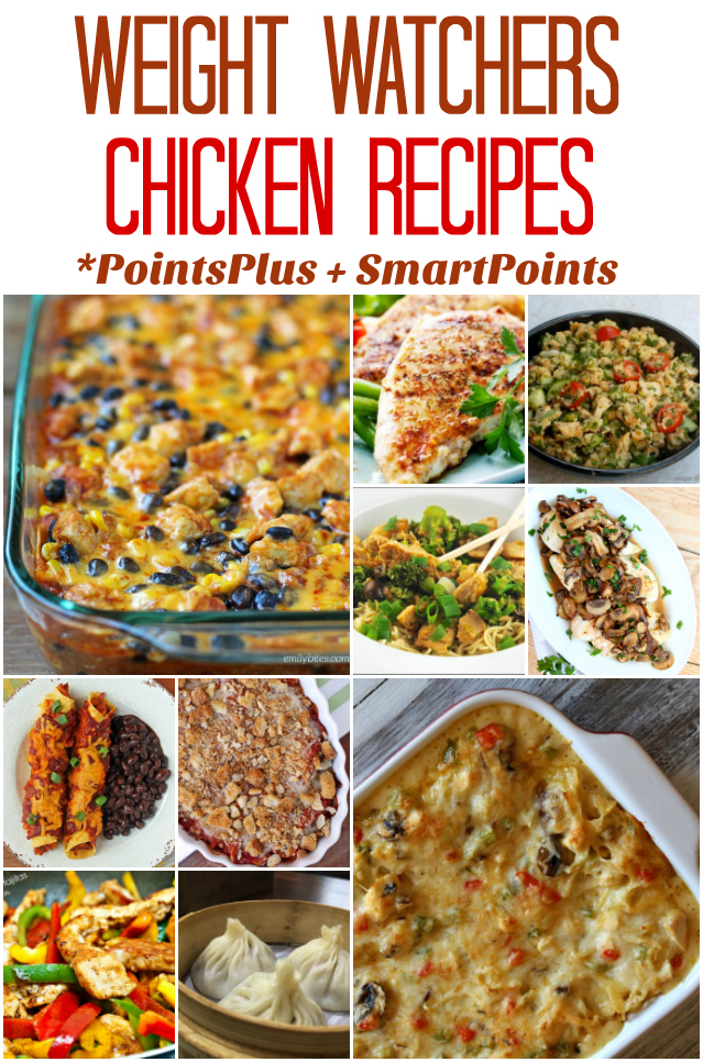 Weight Watchers Chicken Recipes (With PointsPlus and SmartPoint Values)
