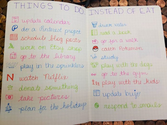 things to do instead of eat