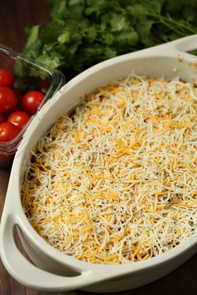 Moar cheese, please!! Chicken Taco Casserole Weight Watchers