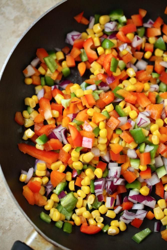 Veggie Loaded Mac N Cheese