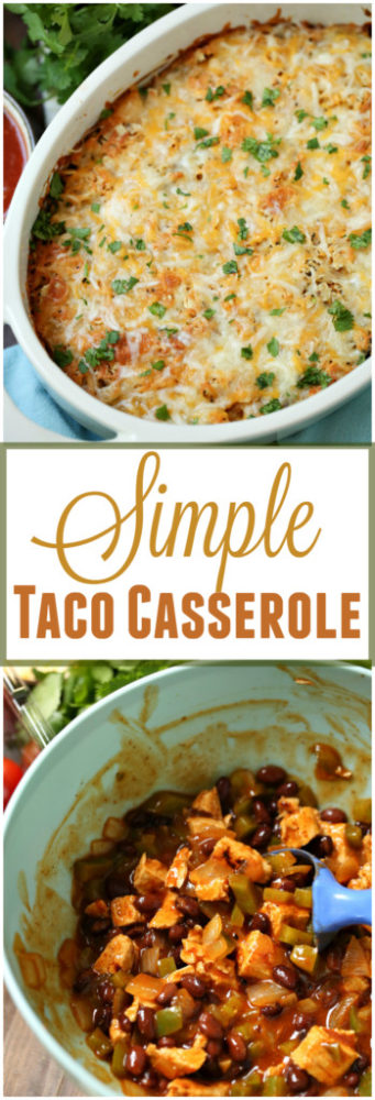 Chicken Taco Casserole - Weight Watchers PointsPlus