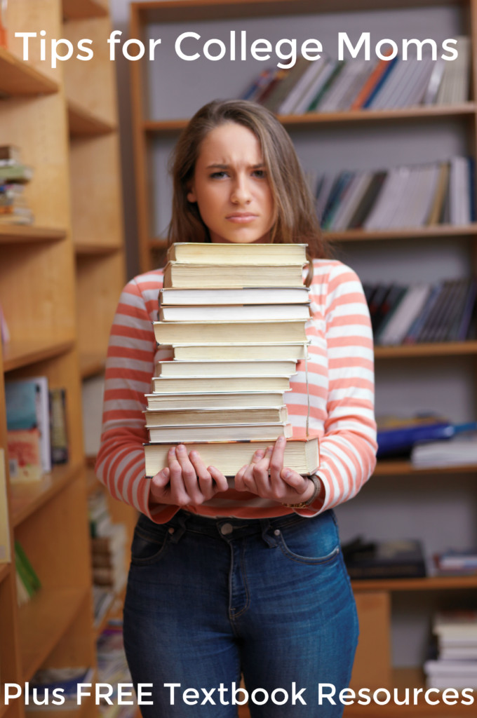 Tips for College Moms – Plus FREE Textbook Sites