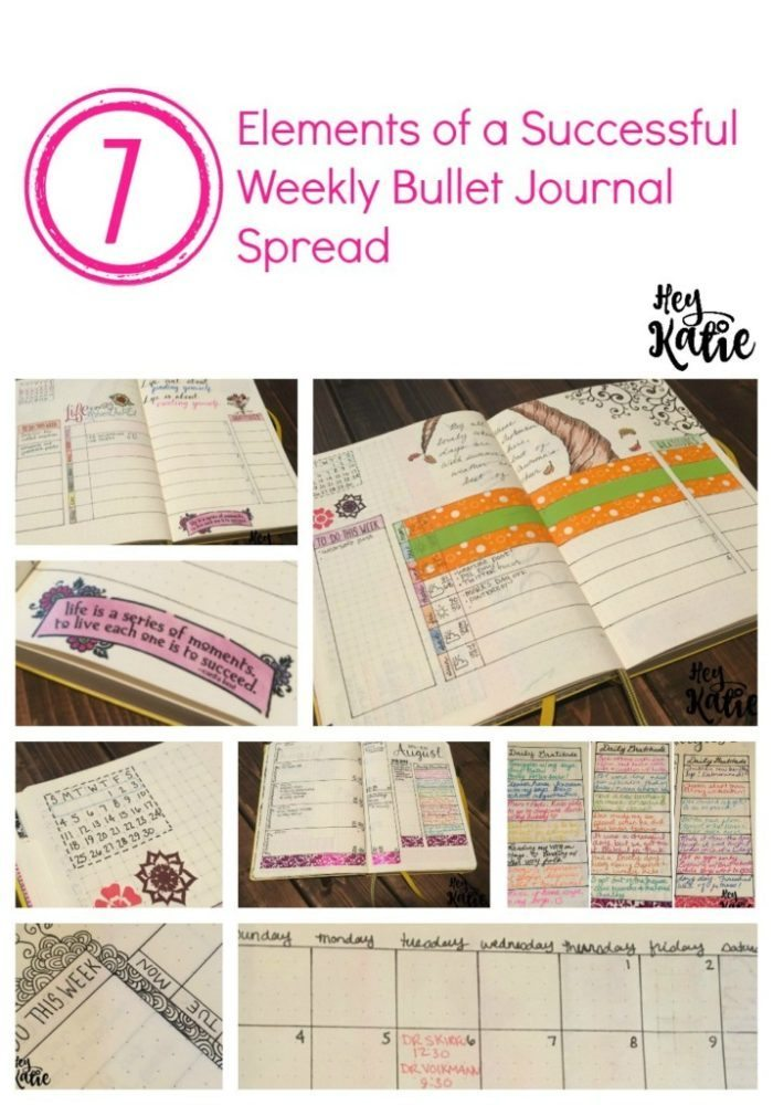 7ElementsofSuccessfulWeeklyBulletJournal