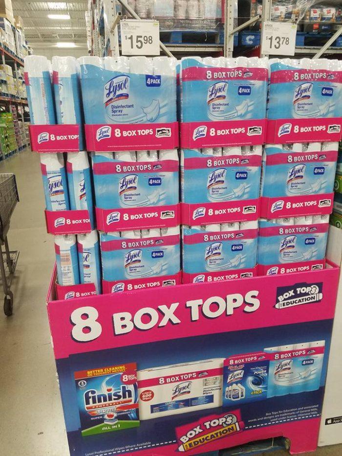 extra box tops sams