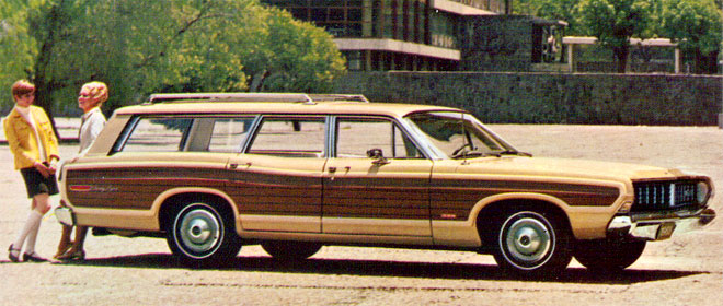 wood panel station wagon