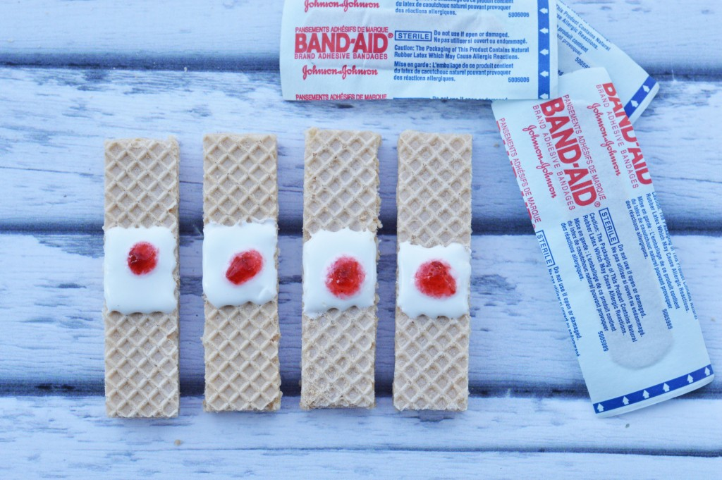 Bloody Band-Aids: Last Minute Halloween Snack