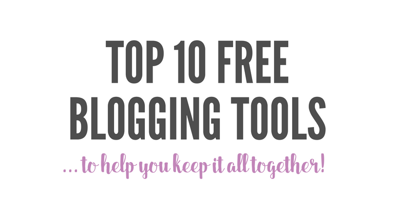 Top 10 Free Blogging Tools
