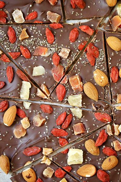 Goji Berry Chocolate Bark