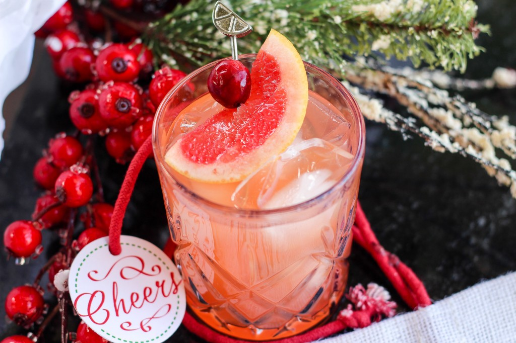Blood Orange Mocktail with Grapefruit