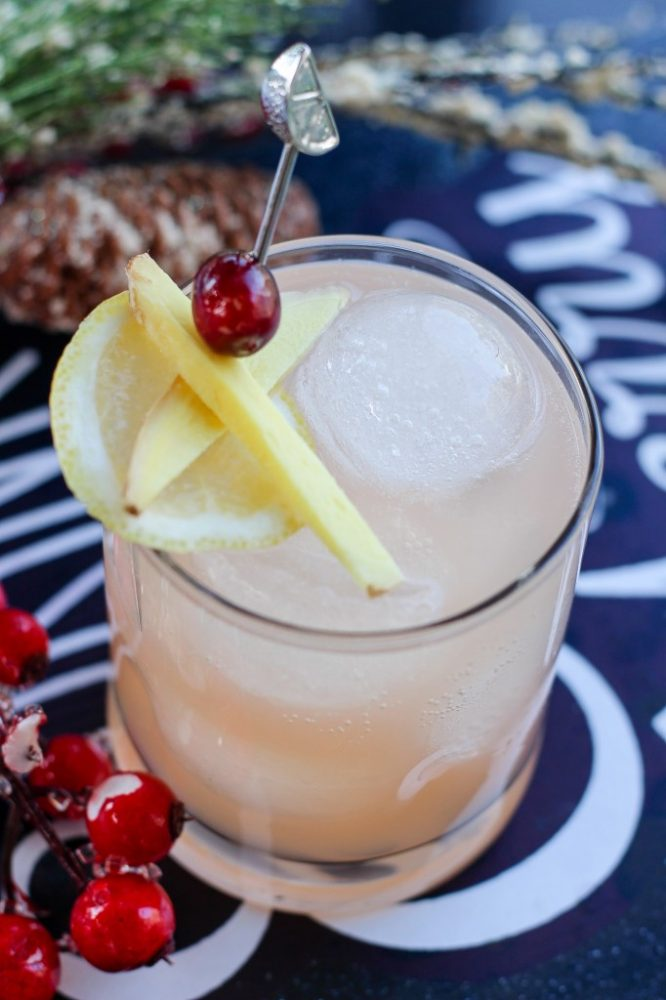Grapefruit Ginger Lemonade Mocktail