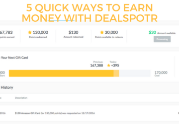 5 Quick Ways to Earn Money with Dealspotr