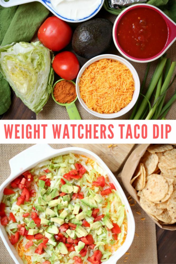 Easy Weight Watchers Taco Dip