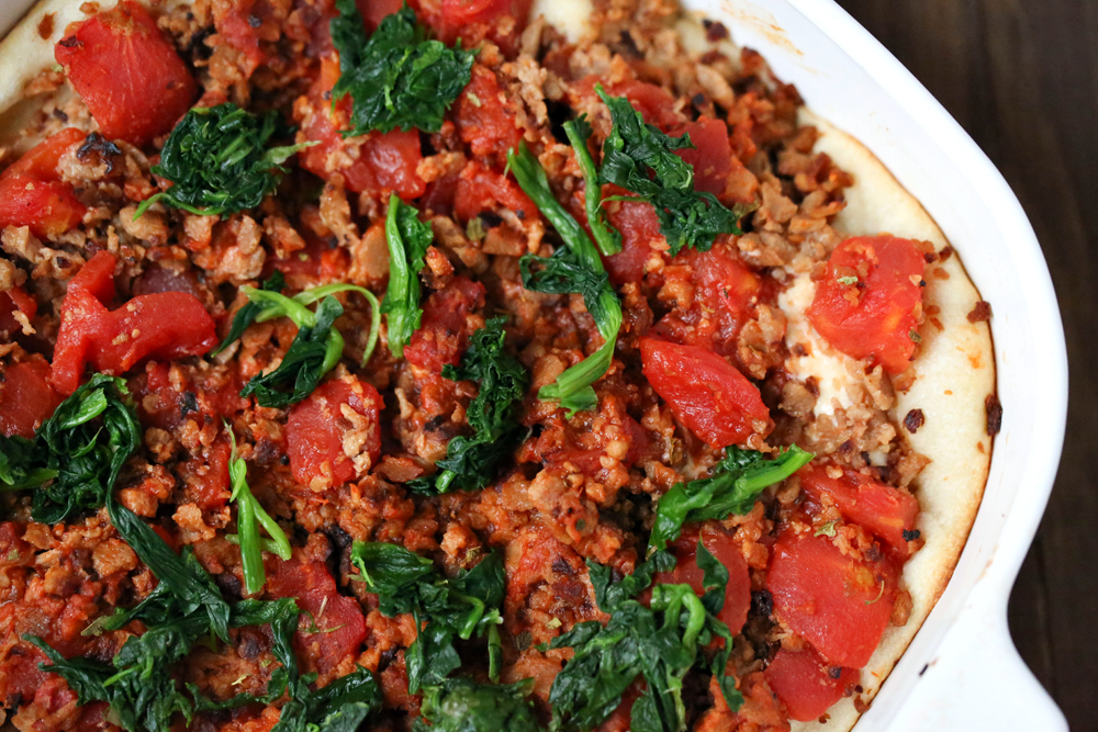 Low Carb Deep Dish Pizza Casserole