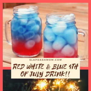 Red White & Blue 4th of July Drink