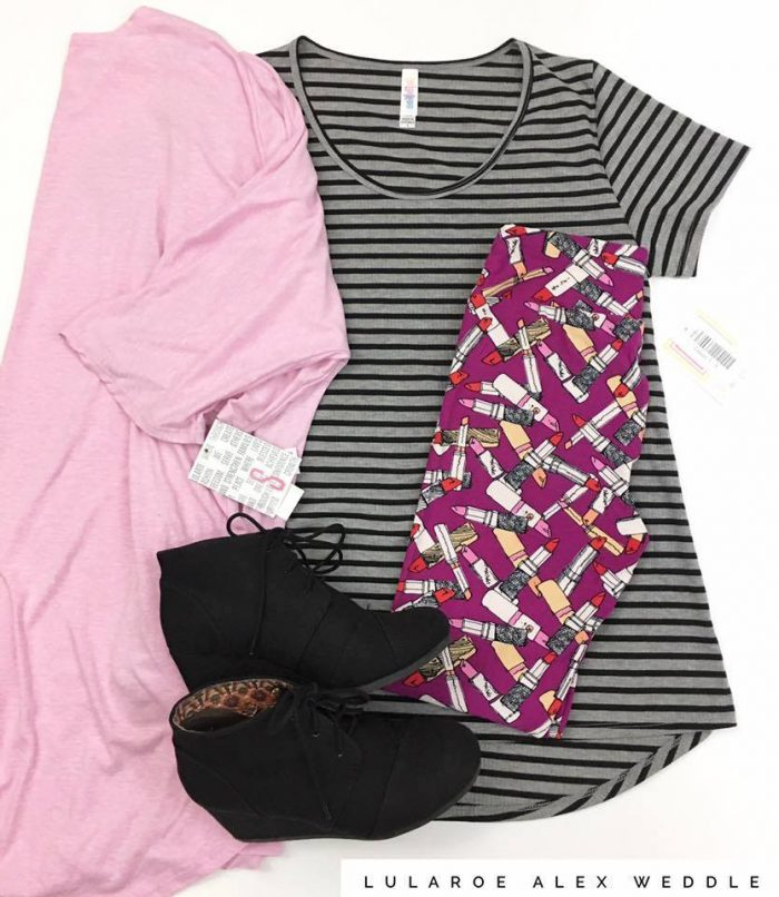 LuLaRoe Style Classic T, Sarah, and Leggings, by Alex Weddle