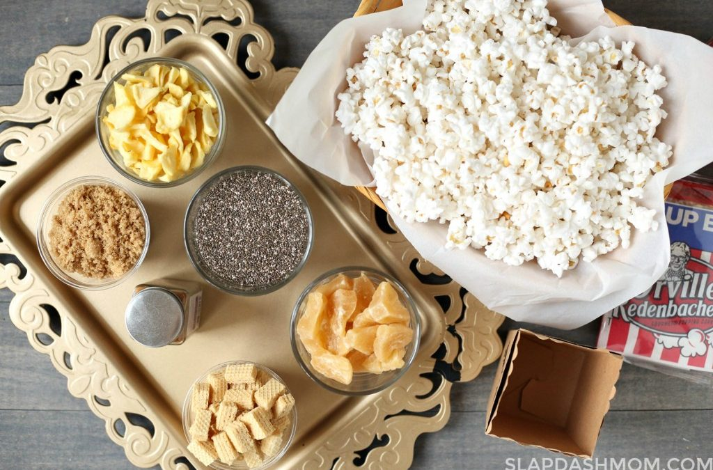Apple Cinnamon Popcorn + Game Day Popcorn Bar