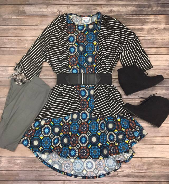 LuLaRoe Carly, Lindsay, and leggings