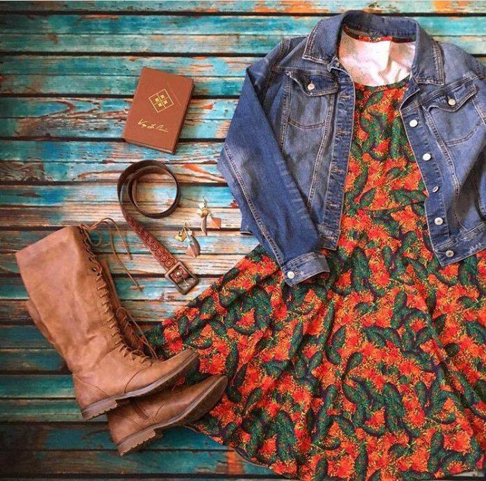 LuLaRoe Nicole Dress, styled by Serena McRae