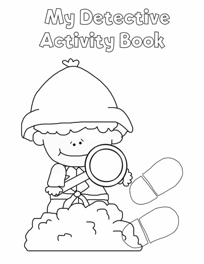 Free Printable Detective Workbook