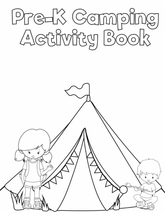 free preschool camping printables - Free Preschool Printables