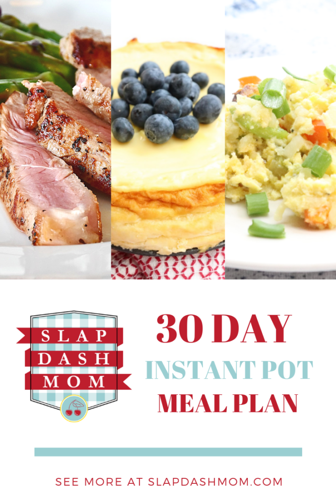 30 Day Instant Pot Meal Plan
